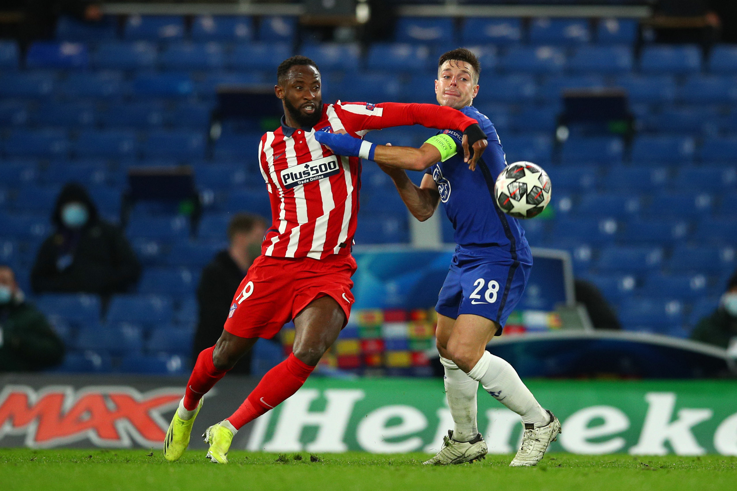 Moussa Dembele in action for Atletico Madrid