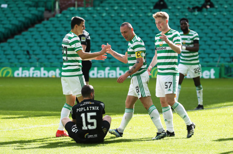 Celtic celebrate against Livingston