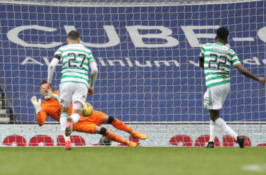 odsonne Edouard misses a penalty at Ibrox