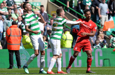 Shay Logan at Celtic Park