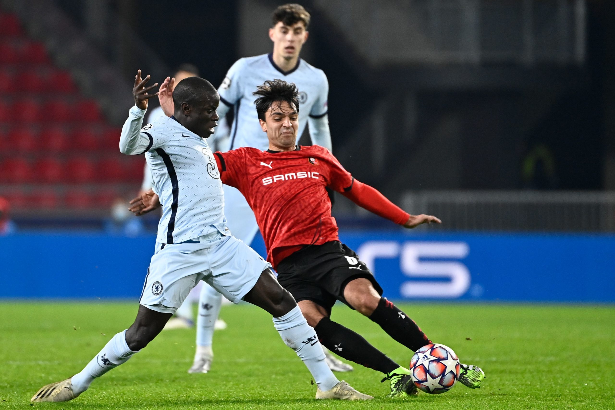 Clément Grenier in action for Rennes