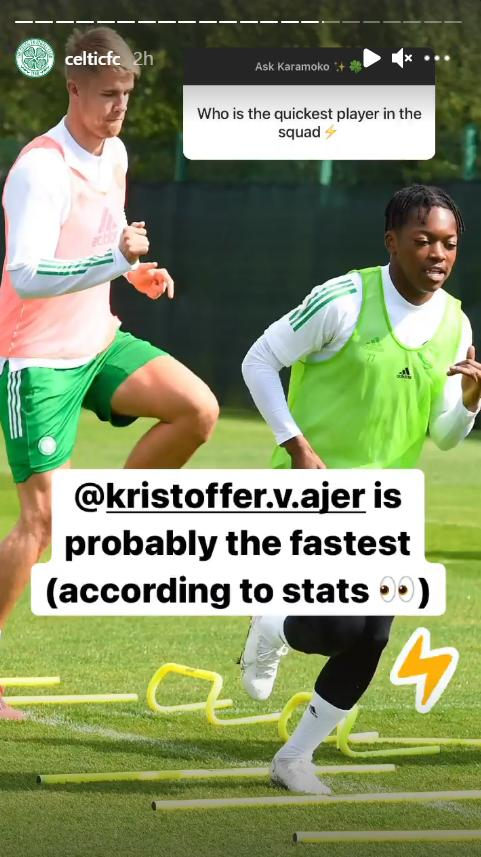 Fastest player at Celtic