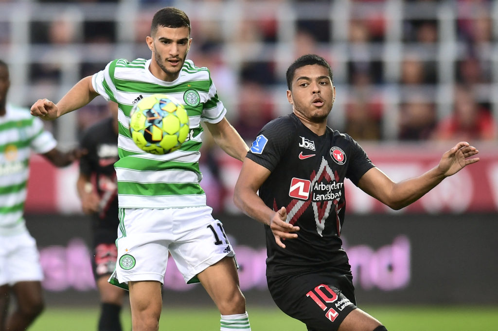 Abada in action against FC Midtjylland