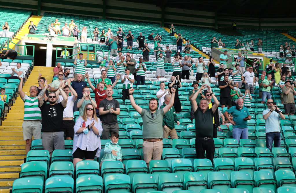 The Celtic fans were full of optimism a week ago