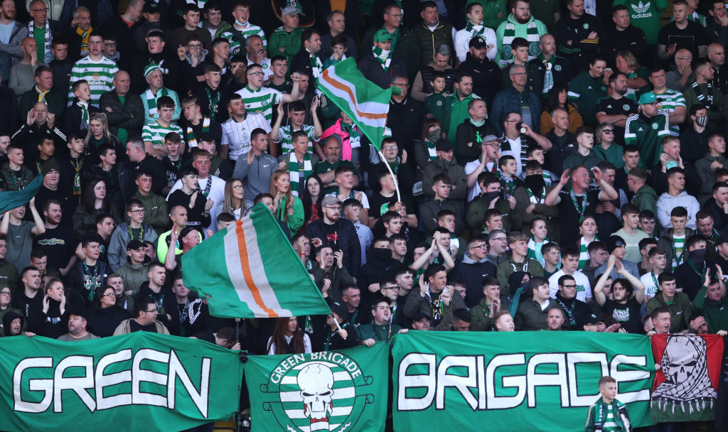 The Celtic away support returned at Livingston on Sunday